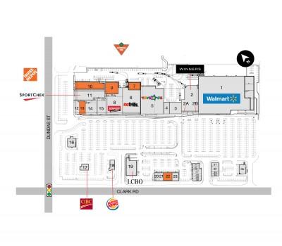 London East Argyle Mall (Smartcentres London) plan