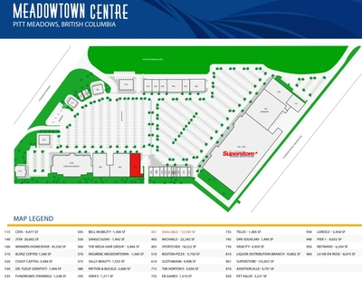 Meadowtown Centre plan