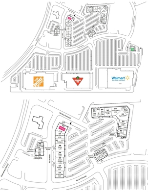 Méga Centre Rive Sud plan
