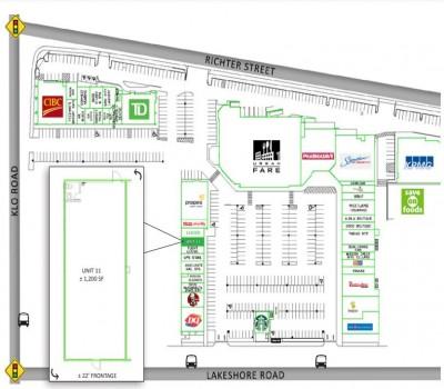 Mission Park Shopping Center plan