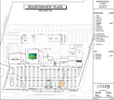 Mountainview Plaza Midland (Mountainview Mall) plan