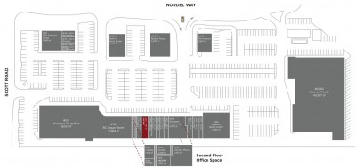 Nordel Crossing Shopping Centre plan