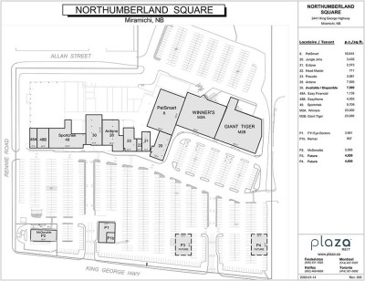 Northumberland Square Mall plan