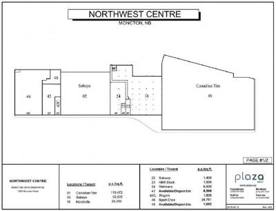 Northwest Center plan