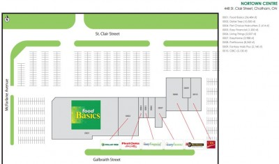 Nortown Centre plan