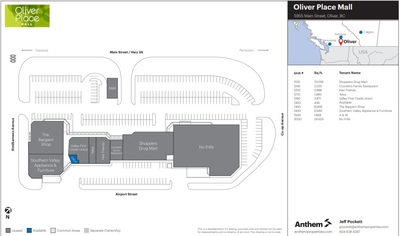 Oliver Place Mall plan