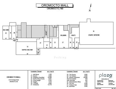 Oromocto  Mall plan