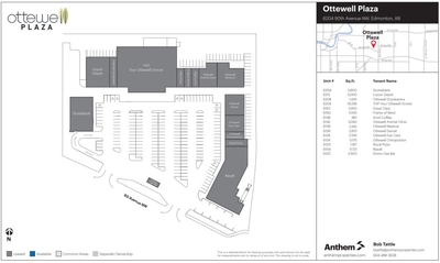 Ottewell Plaza Shopping Centre plan