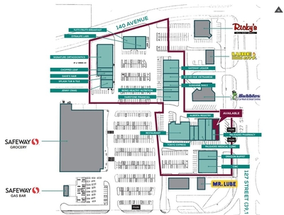 Palisades Shopping Centre plan