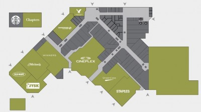 Park Place Mall Shopping Centre plan