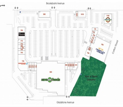 Park & Tilford Shopping Centre plan