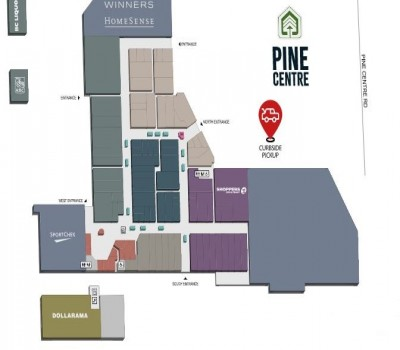 Pine Centre Mall plan