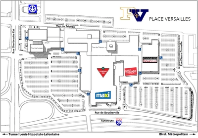 Place Versailles plan