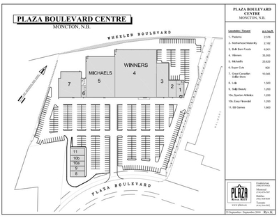Plaza Boulevard Centre plan