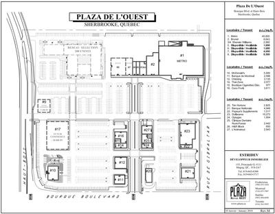 Plaza De L'Ouest plan