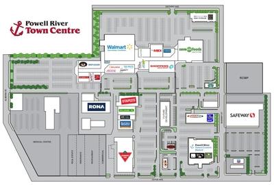 Powel River Town Centre Mall plan