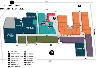 Prairie Mall Shopping Center plan