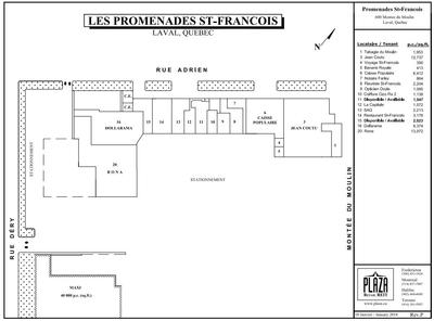 Promenades St-François plan