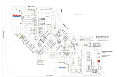 East Hills Shopping Centre plan