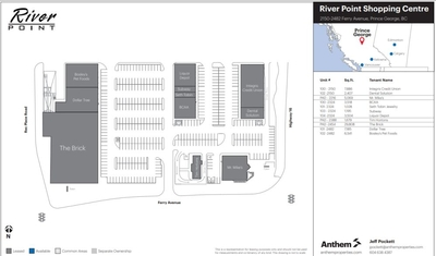 River Point Shopping Centre plan