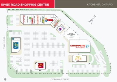 River Road Shopping Centre plan
