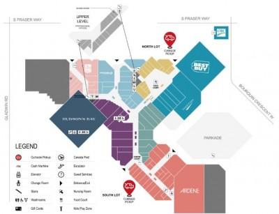 SevenOaks Shopping Centre plan