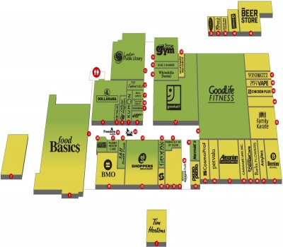 Sherwood Forest Mall plan