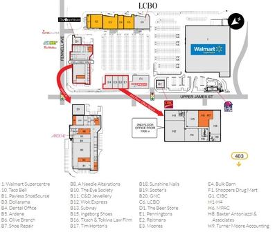 SmartCentres Hamilton Mountain Shopping Plaza plan