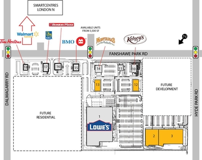 Smartcentres London (NW) plan