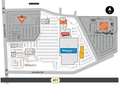 SmartCentres Woodstock plan