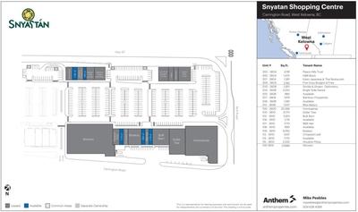 Snyatan Shopping Centre plan