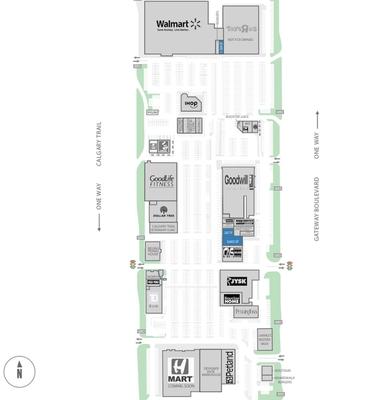 South Park Shopping Centre plan