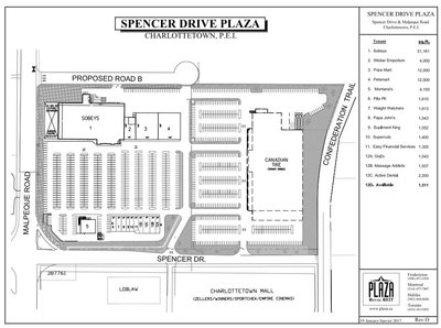 Spencer Drive Plaza plan