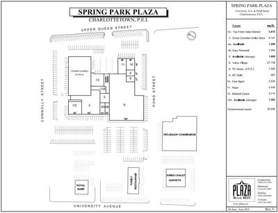 Spring Park Plaza plan