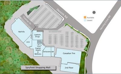 Spryfield Shopping Mall plan