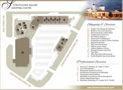 Strathcona Square Shopping Centre plan
