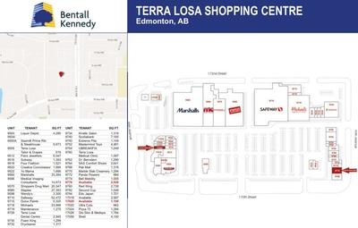 Terra Losa Shopping Centre plan