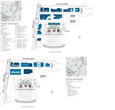 The Shops at Lansdowne Park plan