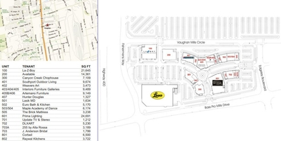 The Village at Vaughan Mills plan