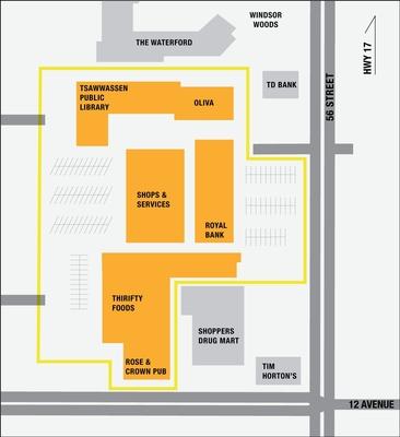 Tsawwassen Town Centre Mall plan