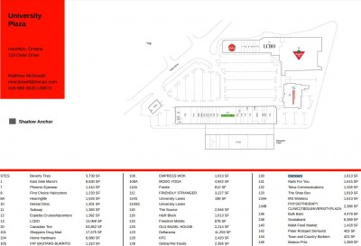 University Plaza Dundas plan