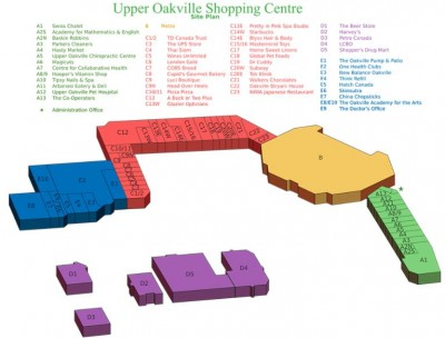 Upper Oakville Shopping Centre plan