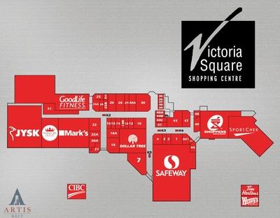 Victoria Square Shopping Centre plan