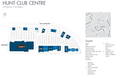 West Hunt Club Centre plan