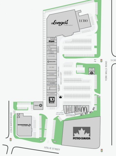 York Mills Gardens plan