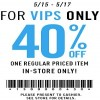 Coupon for: Forever 21, VIP Sale