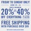 Coupon for: Mark's, Father's day sale 2015