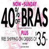 Coupon for: La Senza Canada: Take 40% off bras