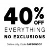 Coupon for: 40% off everything at Gap Canada