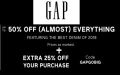 Coupon for: Gap Canada Sale Alert: Up to 50% off + Earn GapCash